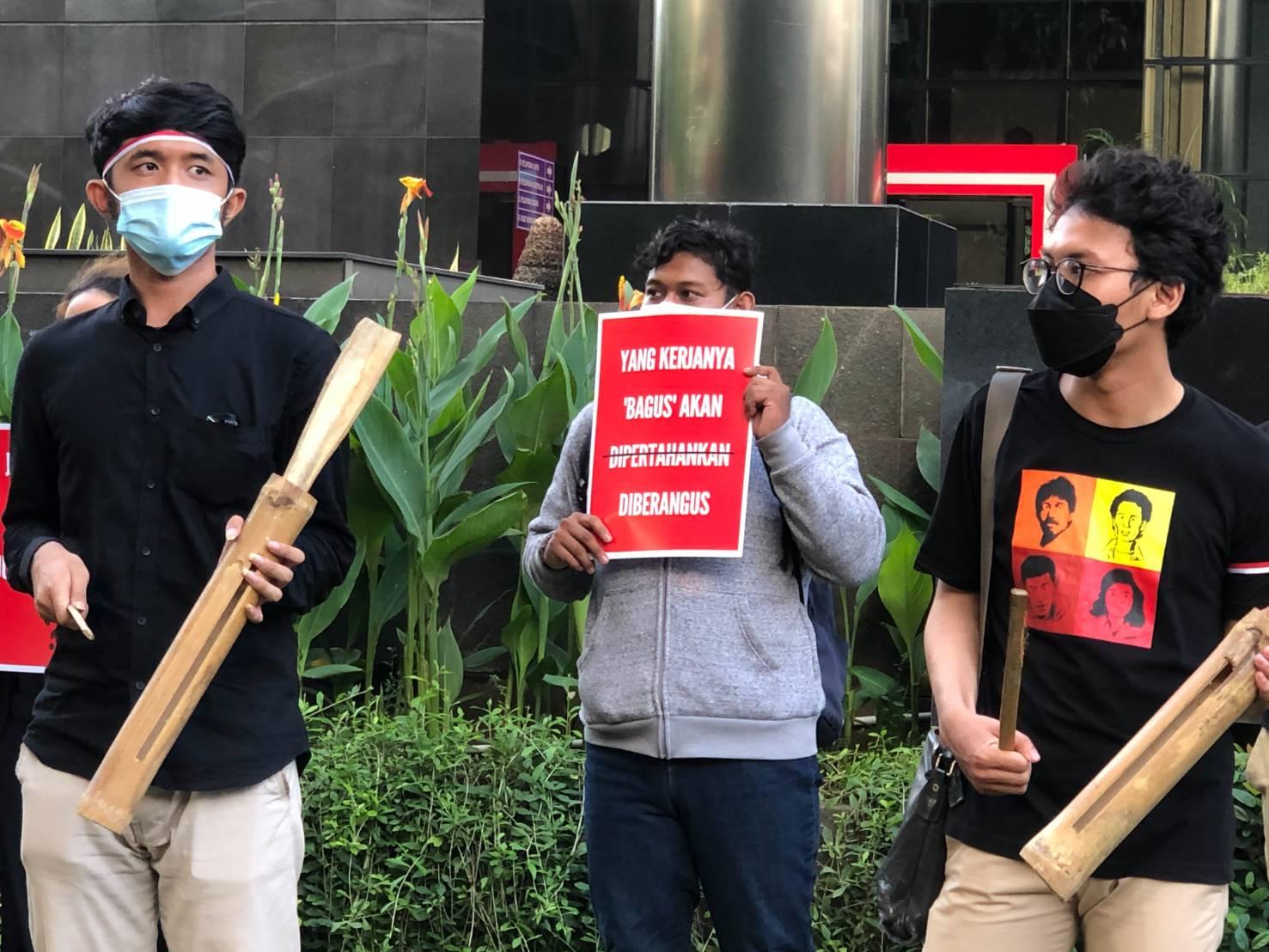 Koalisi Masyarakat Antikorupsi Gelar Aksi Solidaritas untuk KPK