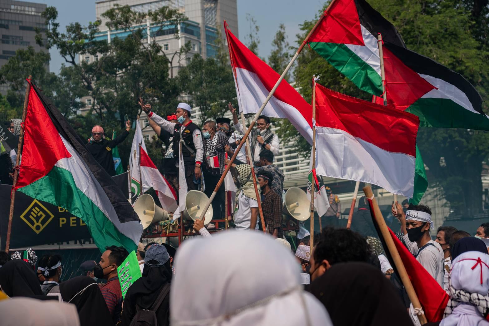 Galang Solidaritas untuk Palestina, Massa Demo di Kedubes AS